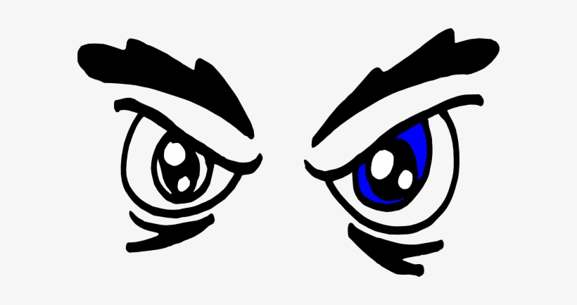 Angry Cartoon Eyes Png Angry Eyes Clipart 600x353 Png Download