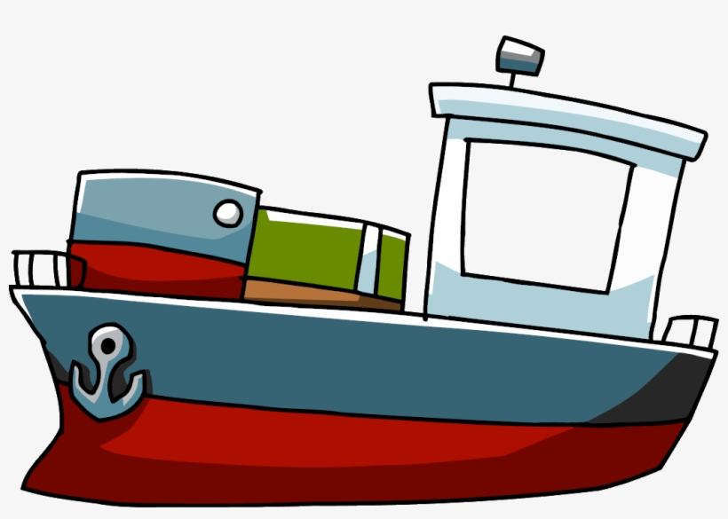 Cartoon Boat Png Cargo Ship Cartoon Png 1036x689 Png Download Pngkit