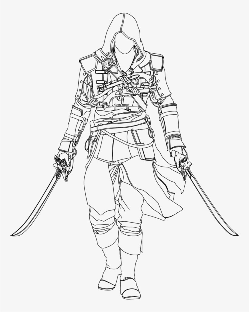 Vector Black And White Library Assassins Creed At Getdrawings Dibujos De Assassin S Creed 798x1001 Png Download Pngkit