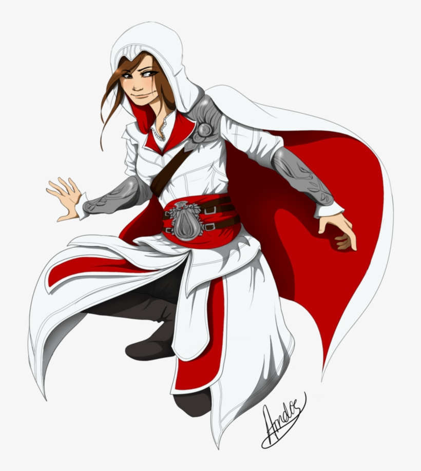 Assassin Girl By Icelandic Assassins Creed Unity Drawing 758x1053 Png Download Pngkit