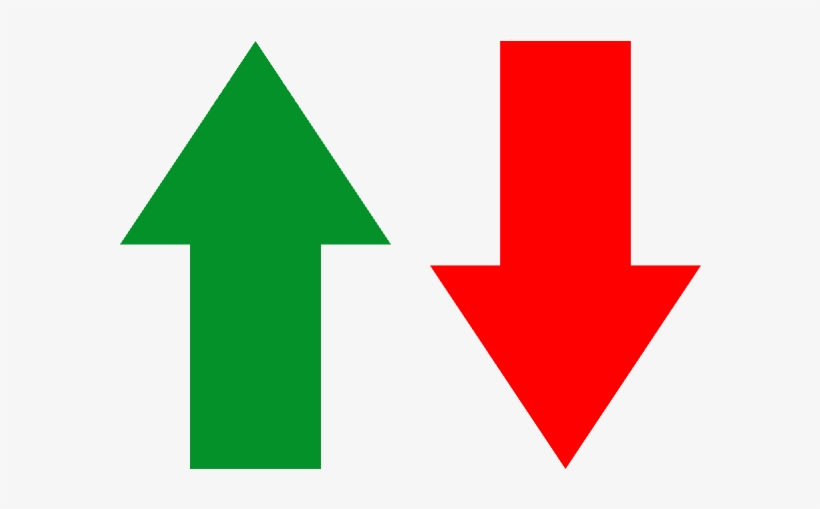 Green Arrow Pointing Up Next To A Red Arrow Pointing - Arrows Going Up And Down - 640x480 PNG Download - PNGkit