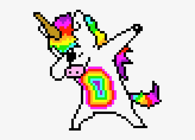 Pony Dab Facile Licorne Pixel Art 730x640 Png Download