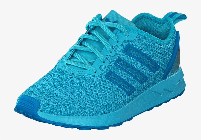 wholesale dealer 01b39 5e211 Zx Flux Racer K Blue Glow - Shoe, transparent png