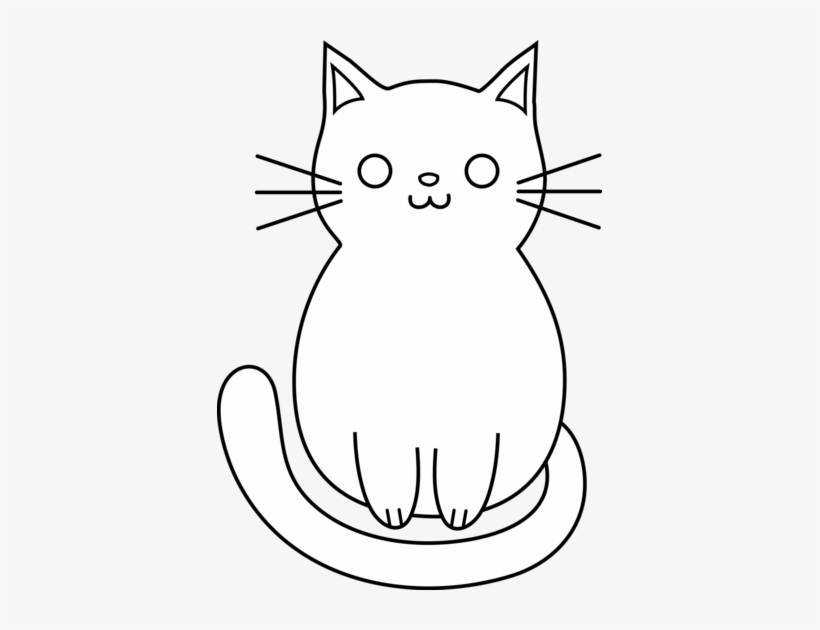 Cute Cat Clipart Free Images Easy Cat Lineart 385x550 Png Download Pngkit