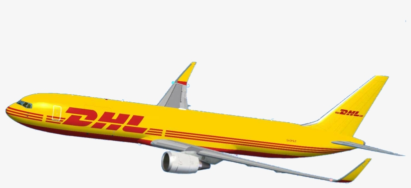 Dhl Dhl Airplane Png 1566x822 Png Download Pngkit