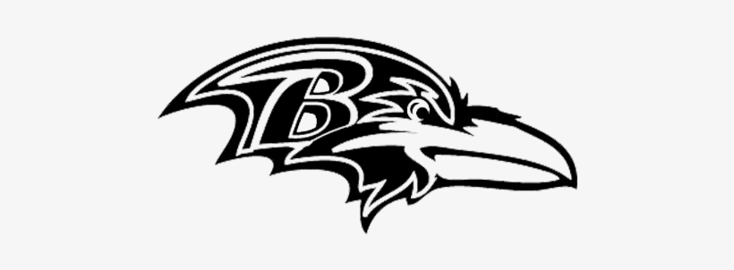 Baltimore Ravens Black And White 500x242 Png Download Pngkit