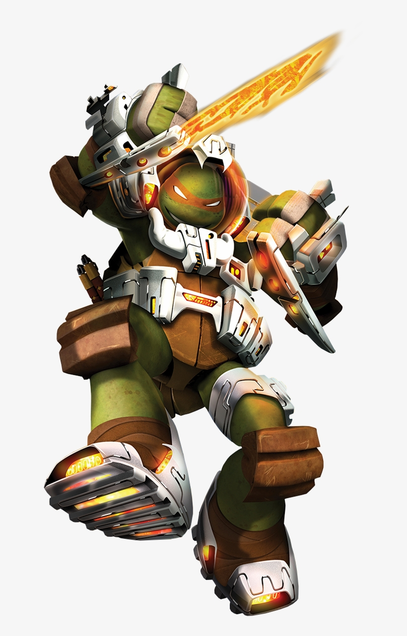 Dimension X Michelangelo Render Tmnt 2012 Mikey Space 734x1203