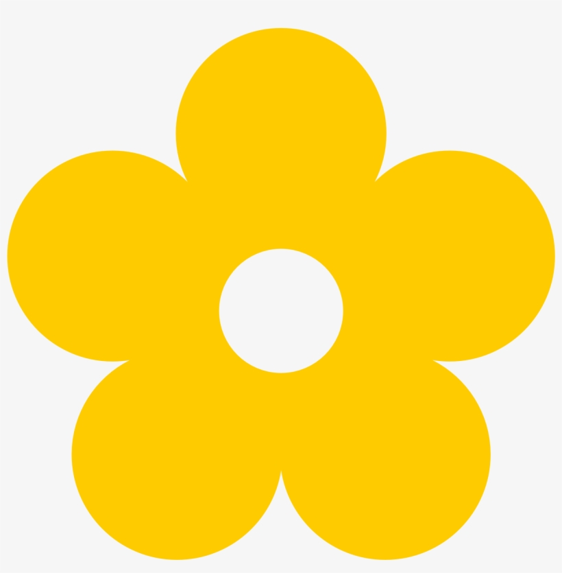 Flowers Color Clipart Hippie - Yellow Flower Clipart ...