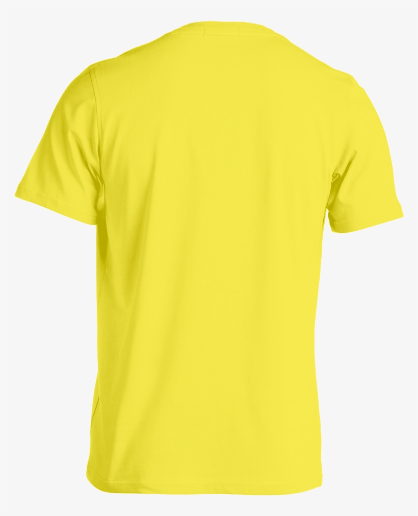custom tee template yellow back
