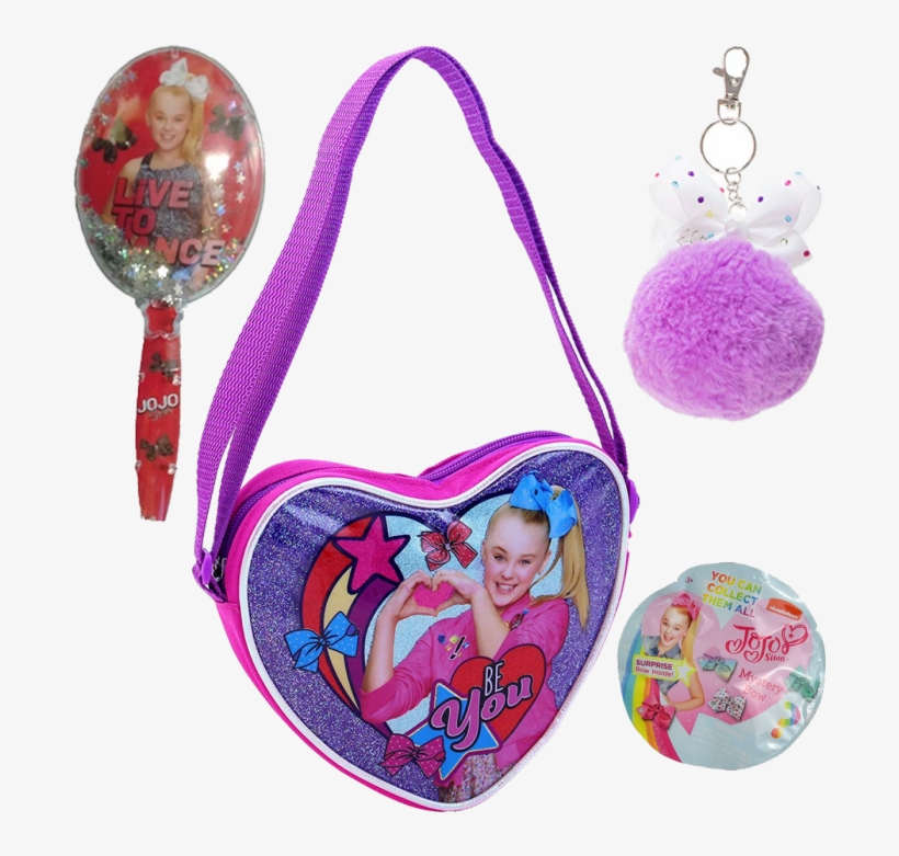 Jojo Siwa Bag, Bow, Brush, And Key Chain 4 Pc Gift