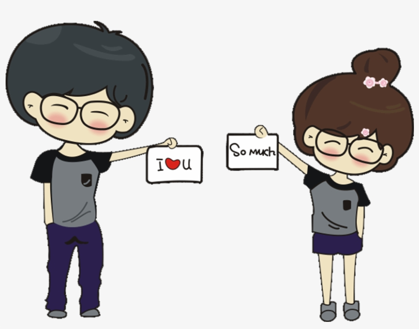 T Shirt Cartoon Couple Lovely Tshirt Transprent Cute Profile For