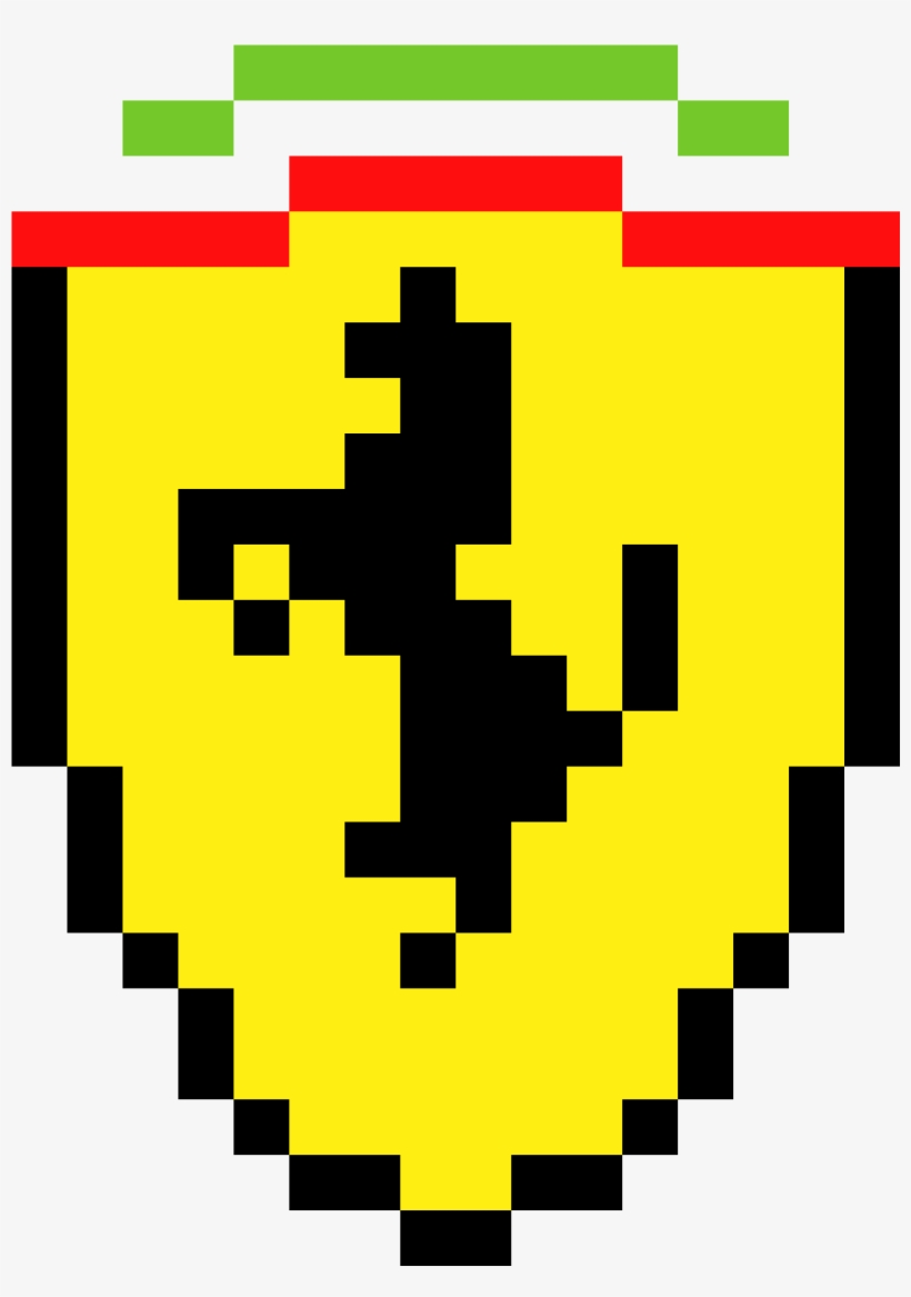 Ferrari Ferrari Logo Pixel Art 2000x2700 Png Download Pngkit