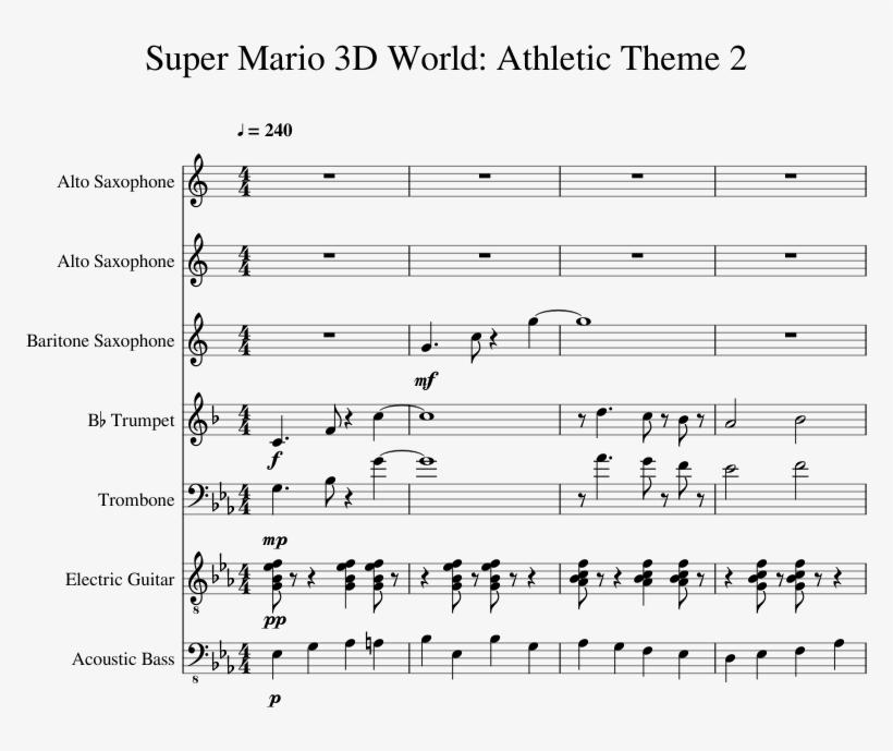 Print - Super Mario 3d World Trumpet Sheet Music - 850x1100