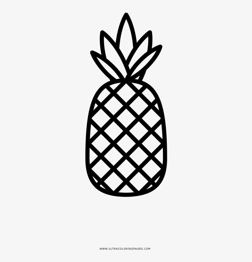 Pineapple Coloring Page Ultra Coloring Pages Pineapple - Pineapple Coloring  Page - 1000x1000 PNG Download - PNGkit