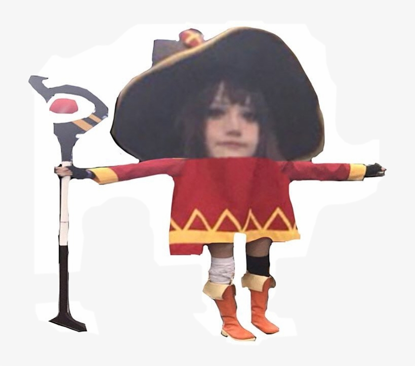 Megumin Cosplay T Pose 713x644 Png Download Pngkit