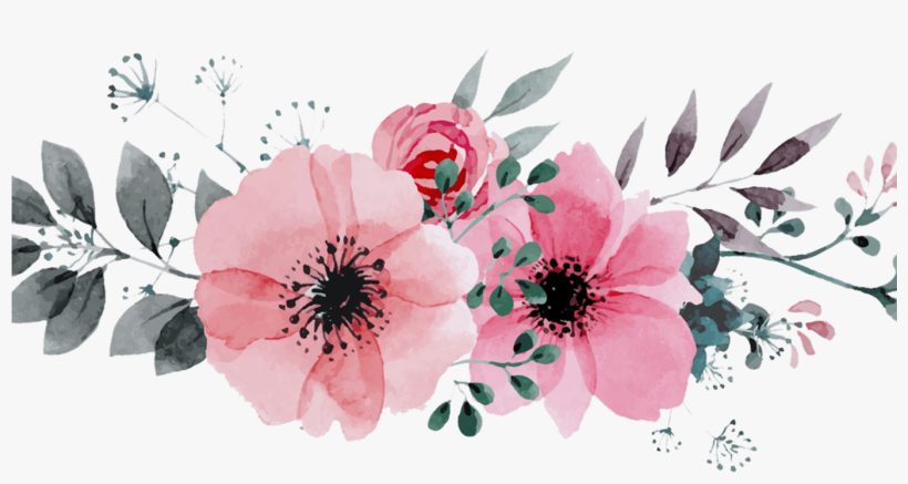 graphic regarding Free Printable Flower Borders known as Totally free Printable Watercolor Bouquets Border Gardening