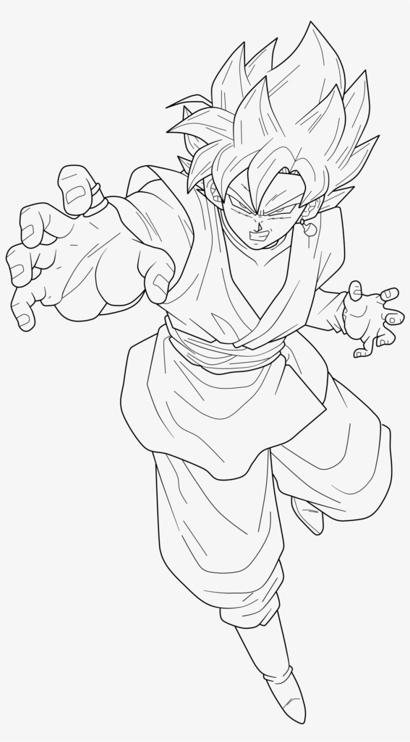 Dragon Ball Coloring Pages Goku Vegeta With Awesome - Goku ...