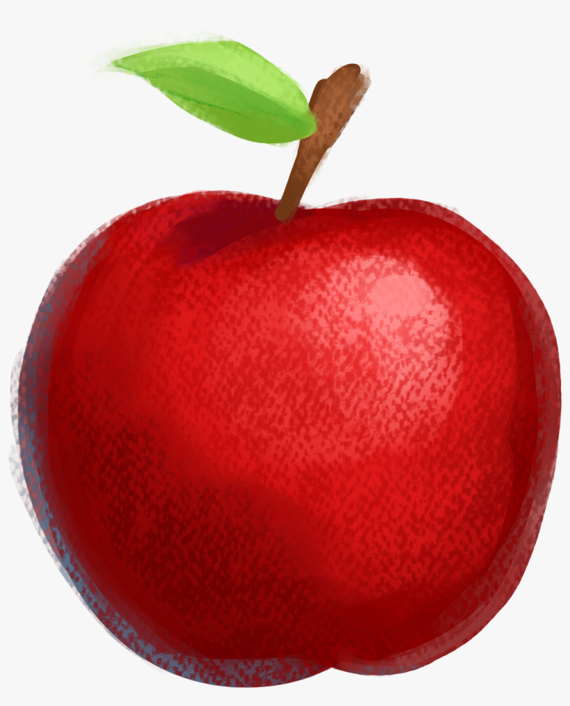 Drawn Apple Red Apple Apple Drawing With Colour 720x720 Png Download Pngkit