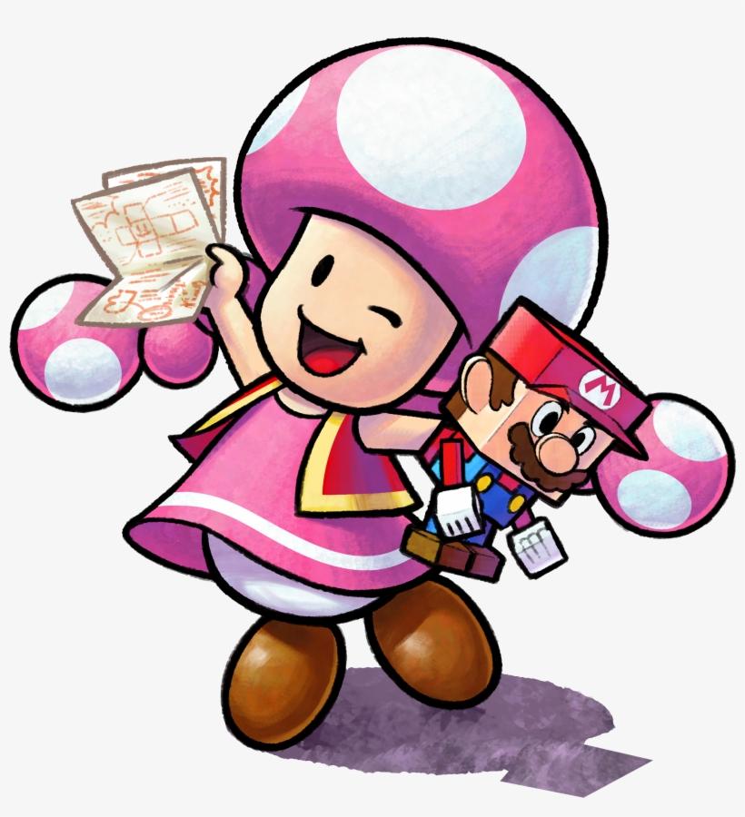 Mario Luigi Paper Jam Toadette Paper Jam 2636x2767 Png