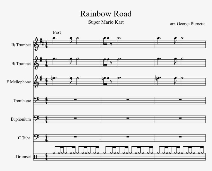 Mario Kart - Snake Pit Sheet Music Alto Sax - 850x1100 PNG