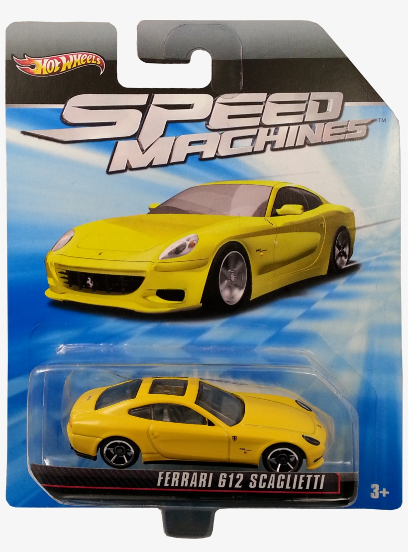 Ferrari 612 Scaglietti Package Front Hot Wheels Ferrari Speed Machines 1903x2482 Png Download Pngkit