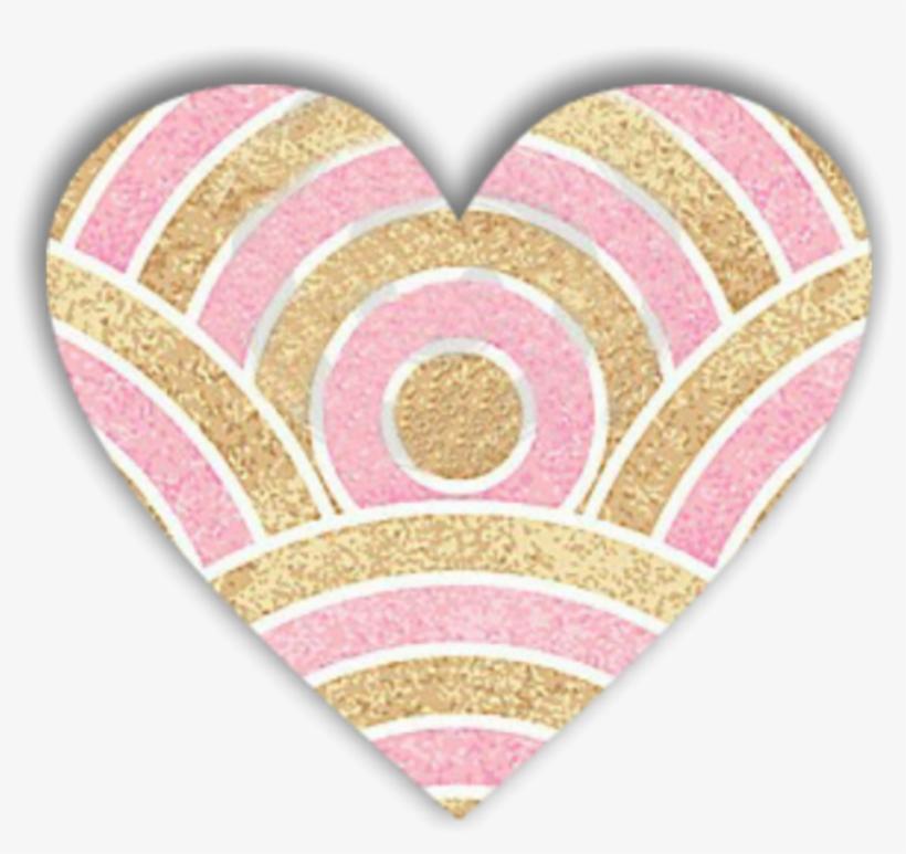 Glitter Heart Love Decoration Scrapbooking Overlay Sfondo Oro E