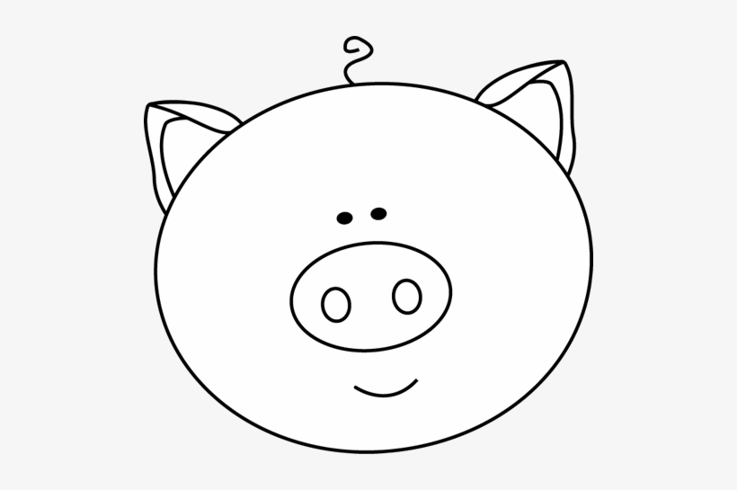 Black And White Black And White Pig Face Cute Cartoon Pig Face 500x465 Png Download Pngkit