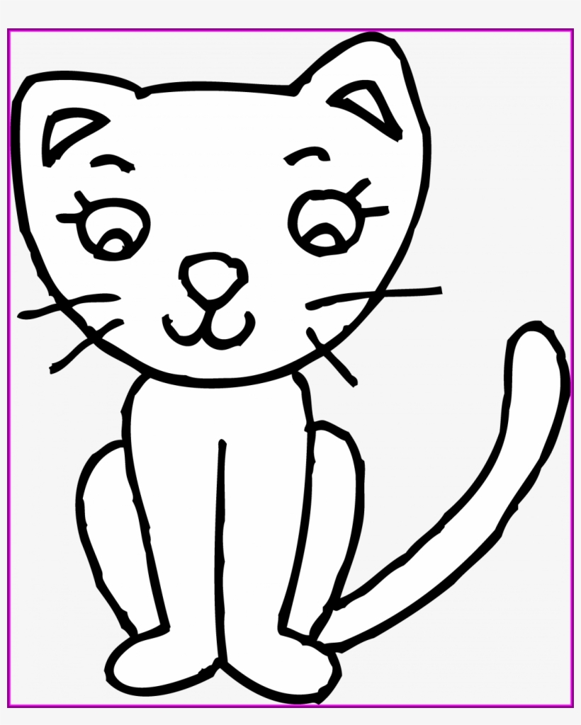 How To Draw A Cartoon Kitten Step By Cute Baby Cat Clipart Easy