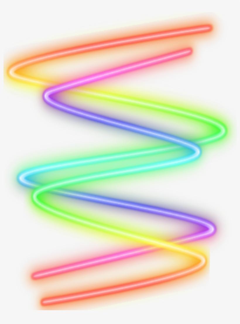 Neon Glow Glowing Zigzag Rainbow Freetoedit Zig Zag Neon Png 1024x1024 Png Download Pngkit