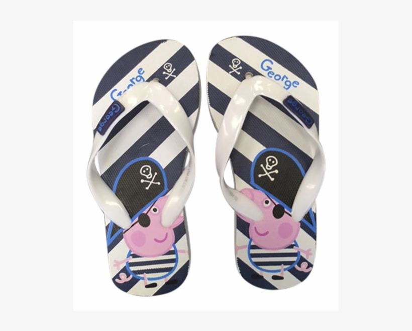 f7620e447 Boys Peppa Pig Themed Beach Flip Flops In 4 Colours - 1 Pair George Peppa  Pig Flip Flops Beach Sandals Shoe