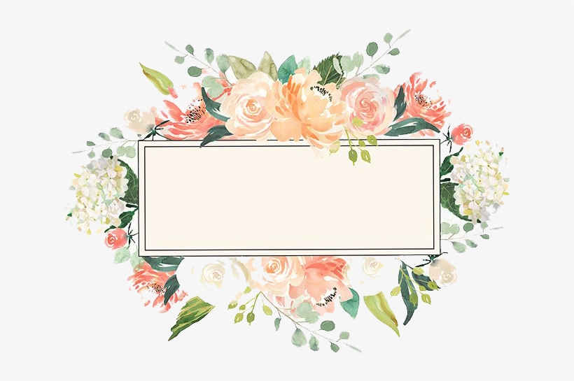 Watercolor Floral Frame Png Image Peoplepng Watercolor Floral