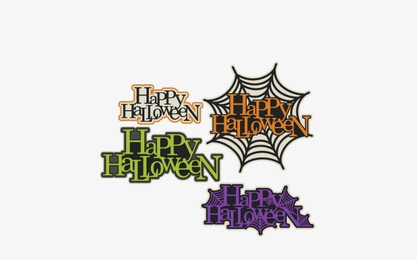 Happy Halloween Title Set Svg Scrapbook Cut File Cute Happy Halloween Svg Free 432x432 Png Download Pngkit