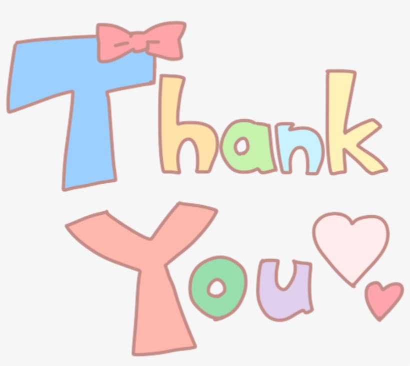 Thanks Transparent Word Cute Thank You Love 1024x1024 Png