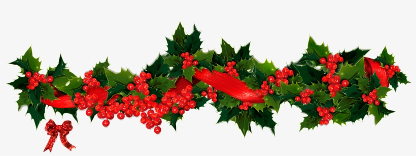 Holly Vector Garland Christmas Garland Png 2404x832 Png