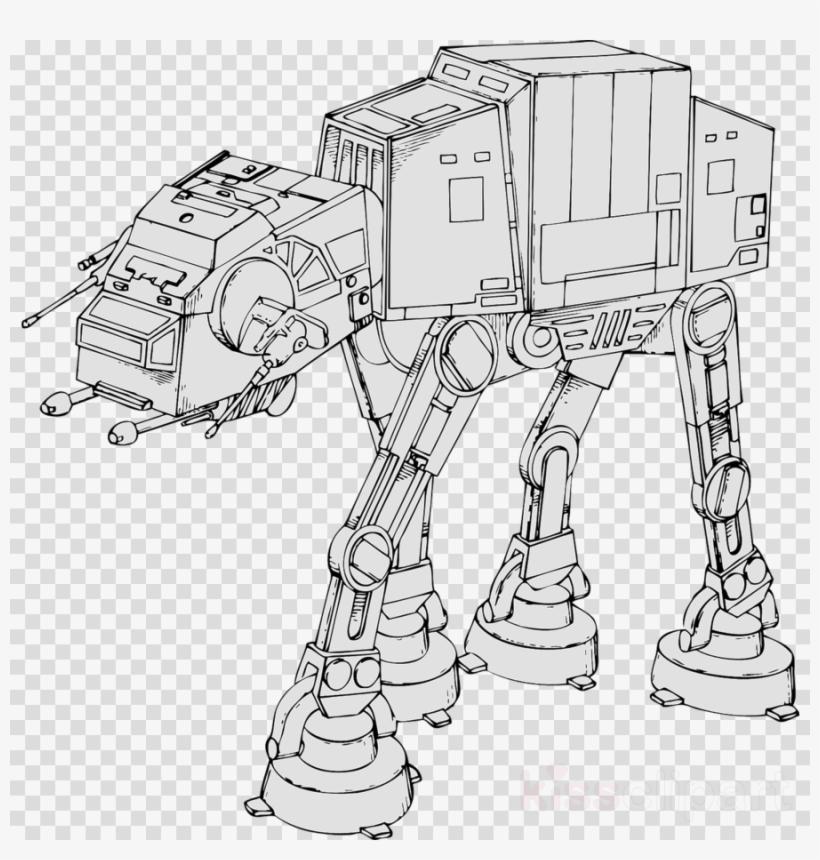 Color Star Wars Walker Clipart Luke Skywalker Obi Wan St Coloring Page Star Wars 900x900 Png Download Pngkit