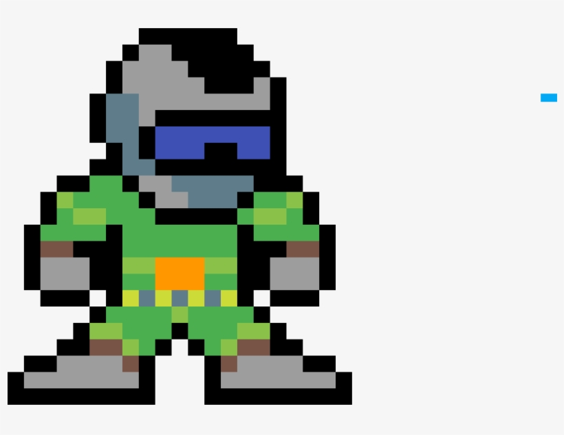 Doom Guy Mega Man Standing Sprite 1200x1200 Png Download Pngkit