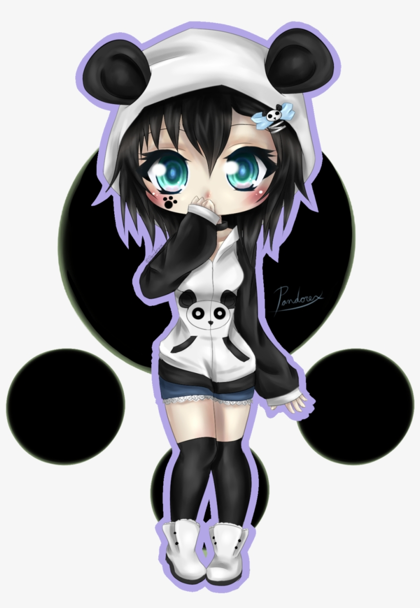 Anime Panda Girl Chibi 1024x1457 Png Download Pngkit