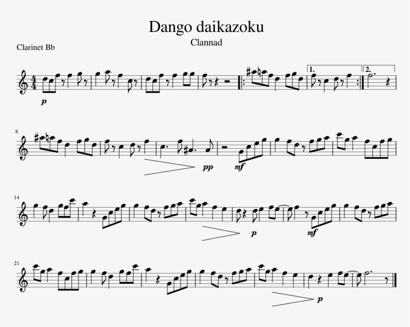 Dango Daikazoku Sheet Music 1 Of 1 Pages Woogie Bugle Boy Sheet Music 827x1169 Png Download Pngkit