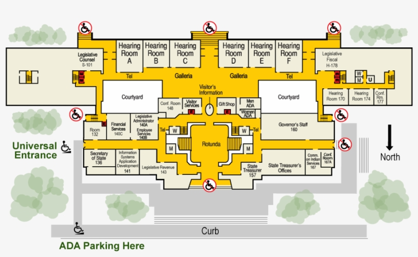 Map Of The Us Capitol Building Ada Entrance Large Cdoovisioncom - Us-congress-building-map