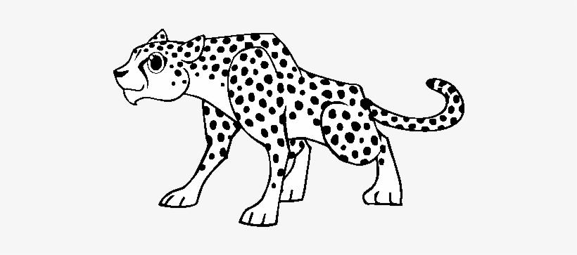 A Cheetah Coloring Page Guepardo Desenho 600x470 Png Download
