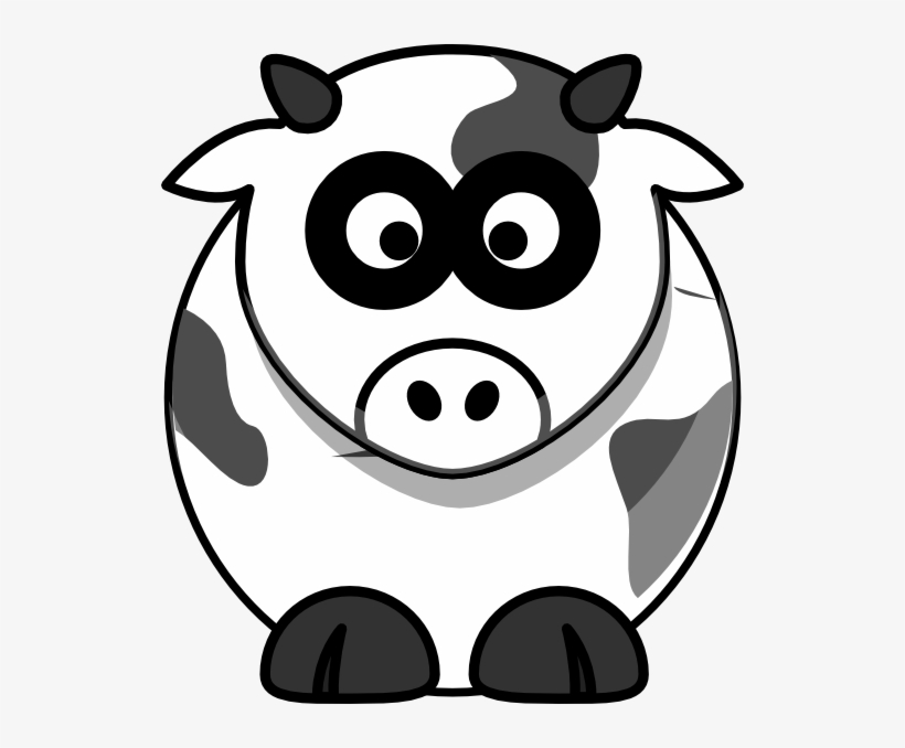 Clipart Cow Head - Drawing Cartoon Cow Head - 528x598 PNG