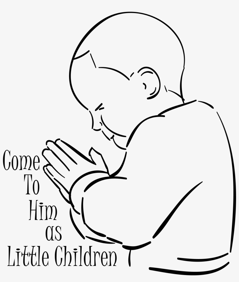 Collection Of A Boy Praying To Child Praying Coloring Page