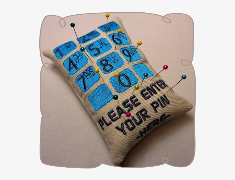 Please enter your pin number Pin Cushion