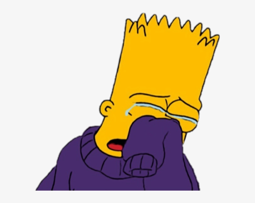 Bart Lossimpson Sad Lagrimas Sticker Llorar Triste