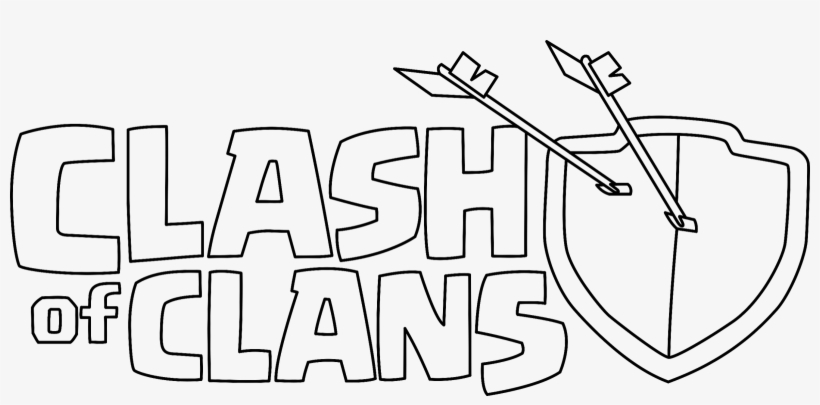 clash of clans logo drawing 1600x713 png download pngkit clash of clans logo drawing 1600x713