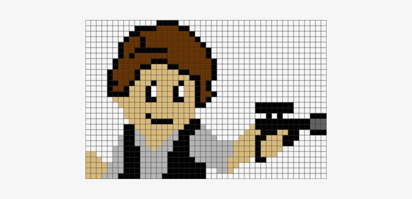 Star Wars Han Solo Pixel Art Pixel Art Star Wars Han Solo