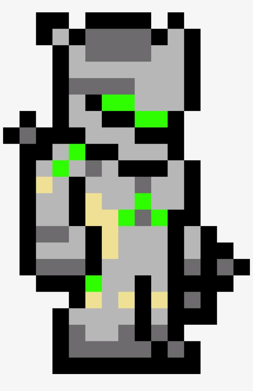 Overwatch Genji Terraria Armor Pixel Art 810x1188 Png
