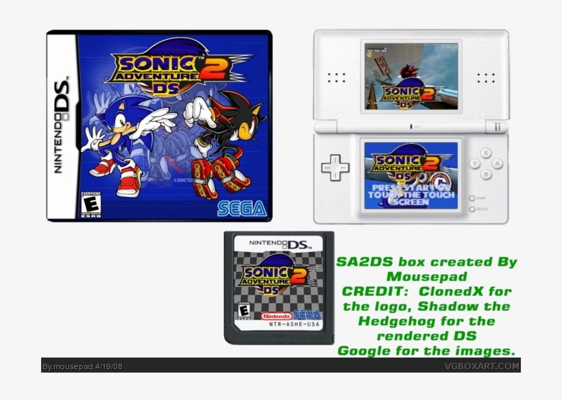 Sonic Adventure 2 Ds Box Art Cover - 700x522 PNG Download