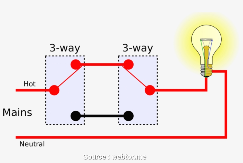 One Way Light Switch Wiring Diagram from www.pngkit.com
