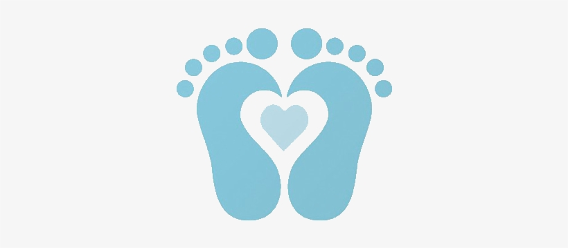 Baby Shower Boy Png Baby Feet With Heart Clip Art 469x296 Png